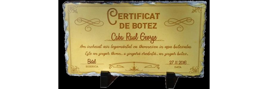 Certificat Botez Nou Testamental - placa ardezie