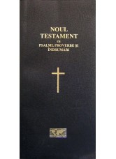 Noul Testament cu Psalmi, Proverbe şi Îndrumări, simpla, copertă de carton moale, culoare neagră