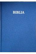 Biblie foarte mare simpla cartonată culoarea albastru metalizat