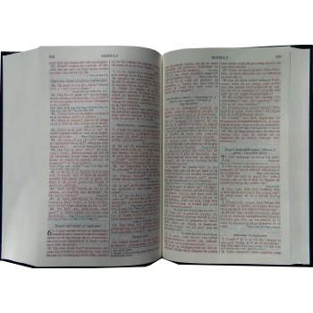 Biblie - simplă, coperţi cartonate, cuvintele Domnului Isus in roşu
