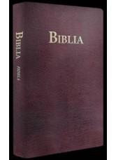 Biblia  Fidela - aurita pe margini, coperti piele de culoare visinie