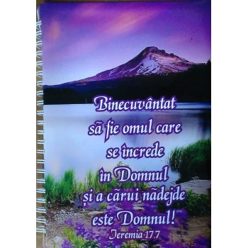 Agenda 2017 Binecuvantat sa fie omul... . Ieremia 17:7. agenda personala