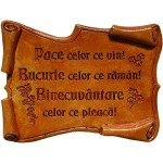 Gravură papirus - Pace celor ce vin !