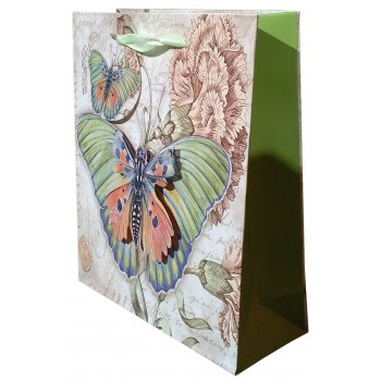 Punga cadou cu fluturi verzi in relief