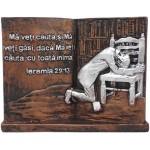Aplica în forma de carte cu text biblic ,,Mă veţi căuta, şi Mă veţi găsi dacă Mă veţi căuta cu toată  inima.Ieremia 29.13