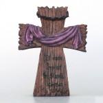 Ornament - Cruce coroana de spini ,, El este înviat în Slavă ,,