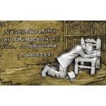 Magnet  ,,Bărbat în rugăciune'', text biblic: Ieremia 29.13