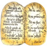 Magnet  ,,Cele zece porunci'', text biblic: Exod 20.1-17