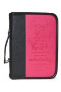 Husa pentru Biblie - roz ciclam (piele ecologica)