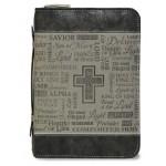 Husa pentru Biblie - duotone (gri - piele ecologica, mare)