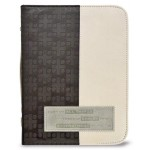 Husa pentru Biblie - duotone (gri/negru - piele ecologica, mare)