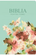 Biblia pentru femei model turcoaz floral mare
