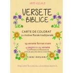 Versete biblice. Carte de colorat cu motive florale traditionale - Jeni Rosian